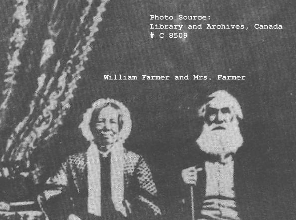 Photo of William Farmer, Shropshire, England to the Gatineau Valley, Canada, in 1834