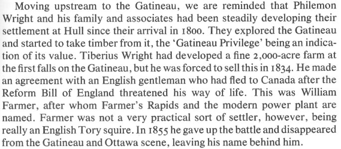 William Farmer, Shropshire, England to the Gatineau Valley, Canada, in 1834
