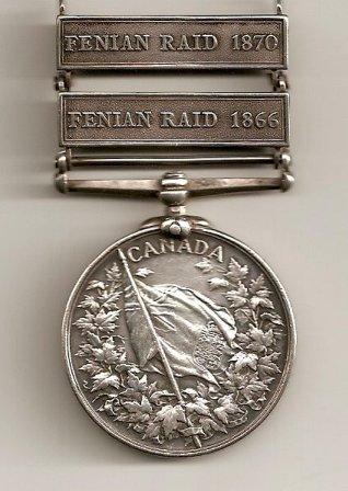 Fenian Medal awarded to Jeremiah Kyle of Fitzroy Township, Ontario, Canada, Reverse Side
