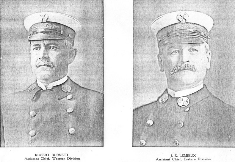 Ottawa Fire Department Assistant Chiefs, Robert Burnett and J. E. Lemieux