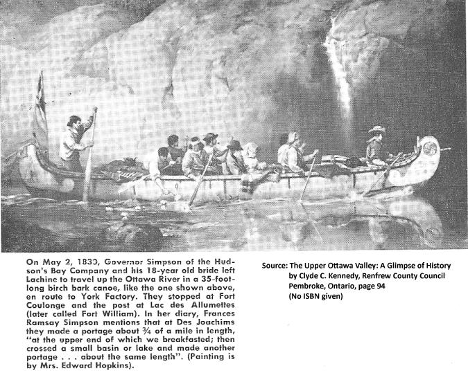 Fort Coulonge Algonquin Indian 35 foot Canoe