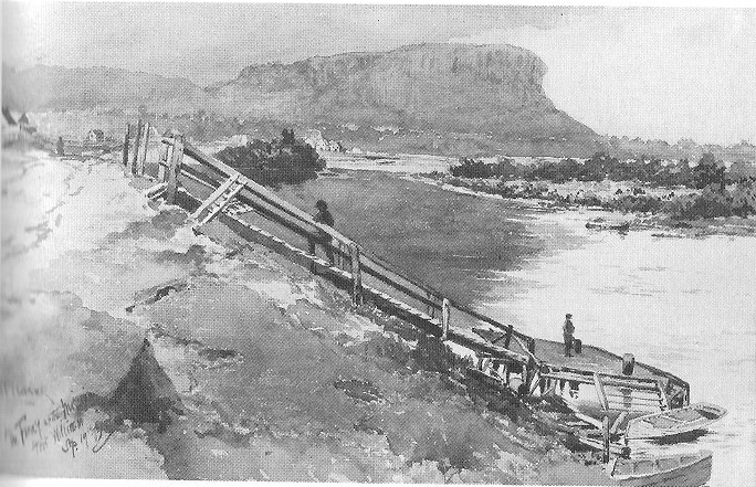 Fort William Ferry at Mission, 1883