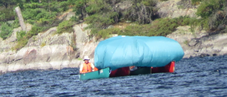 Canoe Sailing on the French River, August, 2015