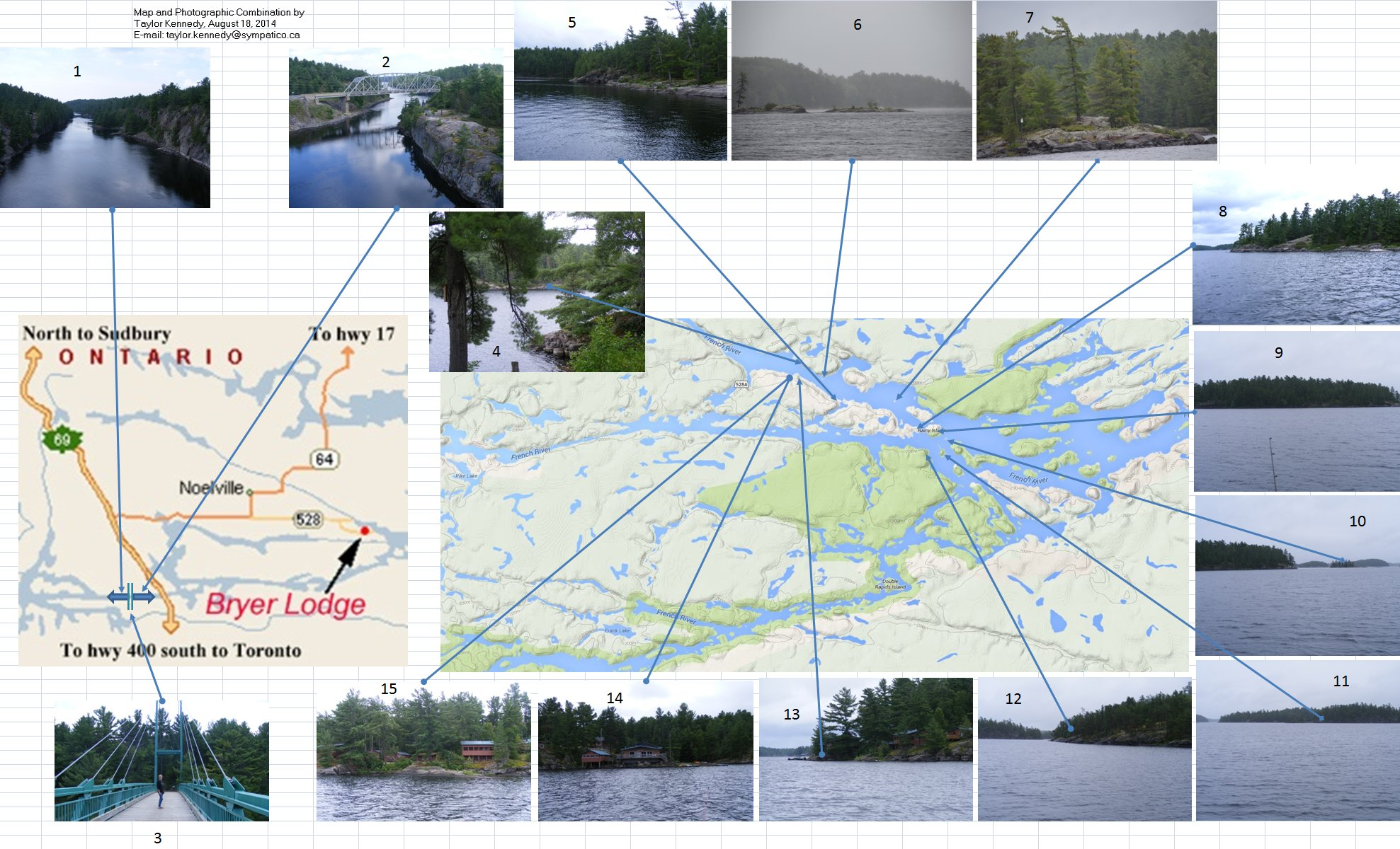 French River, Map and Photographs by Taylor Kennedy