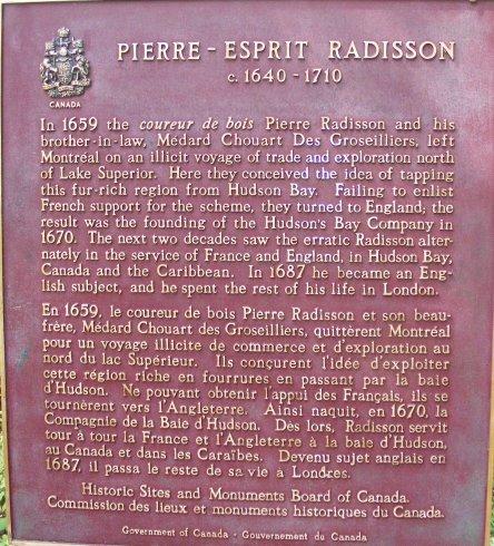 French River, Ontario, Canada, Plaque