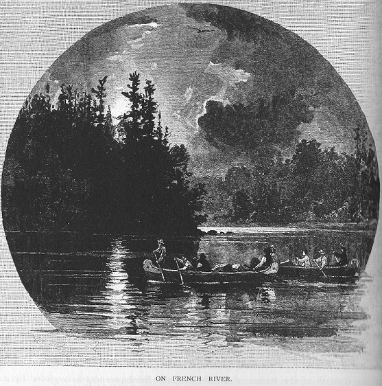 Canoes on French River, Ontario, Canada, Plaque