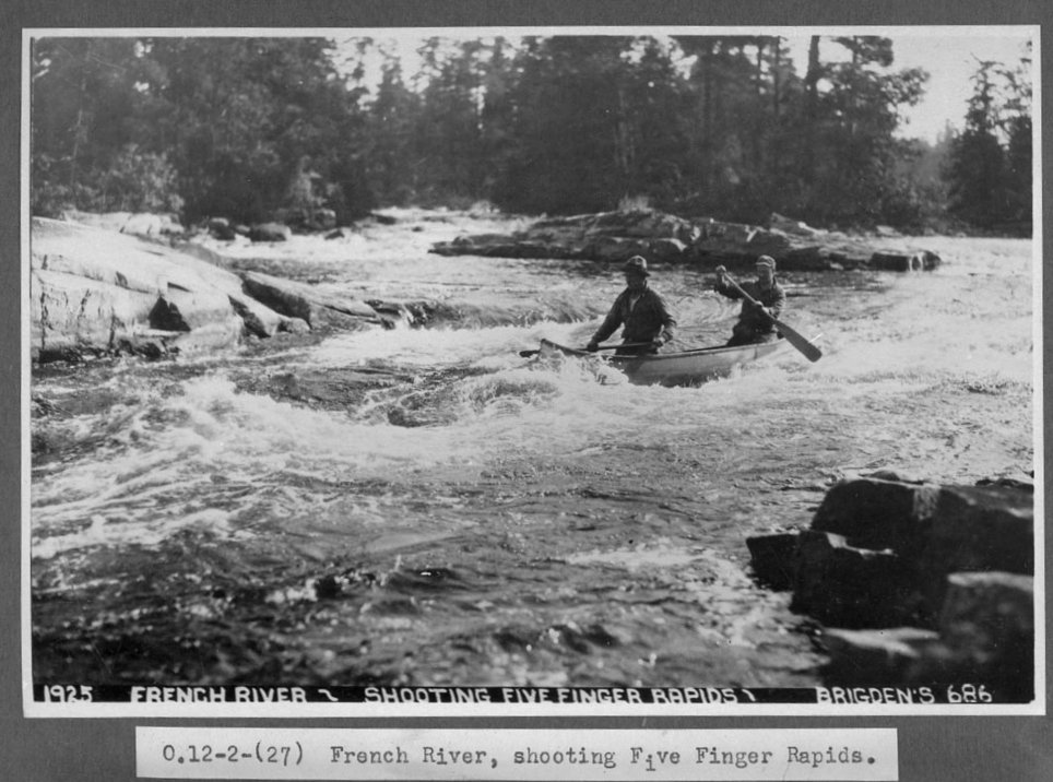 French River, Ontario, Canada - Five Finger Rapids in 1925