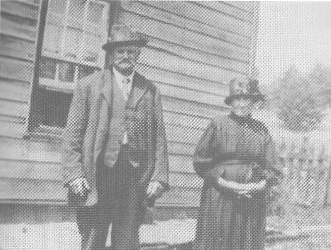 Albert Friske and his wife Rose Rusch at Mount Saint Patrick, Ontario, Canada