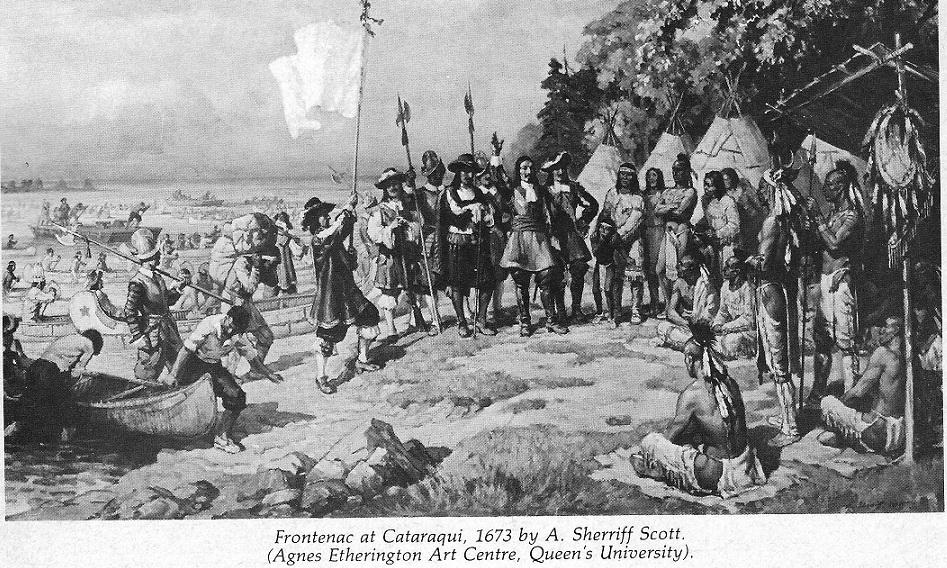 Kingston, Ontario, picture showing Frontenac at Cataraqui