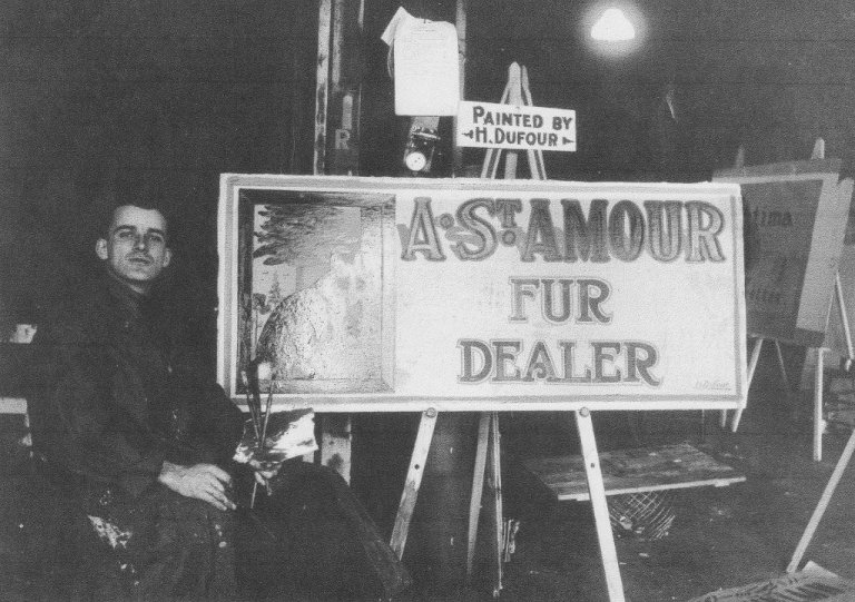 Andre St. Amour. Fur Dealer Sign, by Henri Dufour