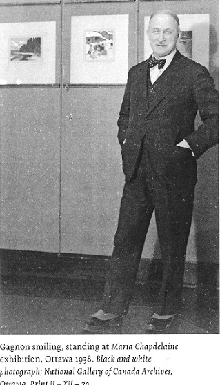 1938 Photograph of painter Clarence Gagnon in Ottawa