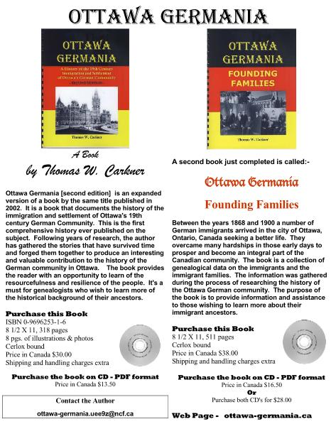 Book: Ottawa Germania - Founding Families