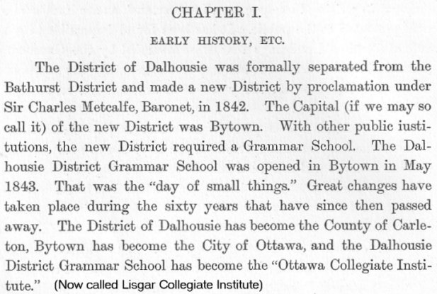 Ottawa Grammar School, Predecessor to Lisgar Collegiate