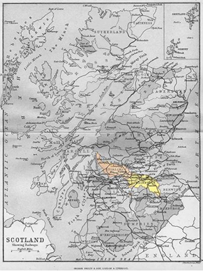 Map Of Scotland Counties. MAP OF SCOTLAND SHOWING WEST