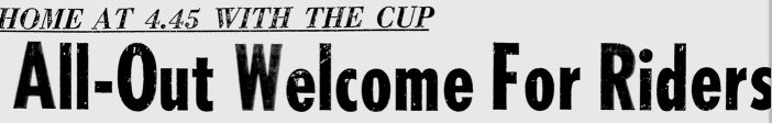 Ottawa Rough Riders win the 1960 Grey Cup
