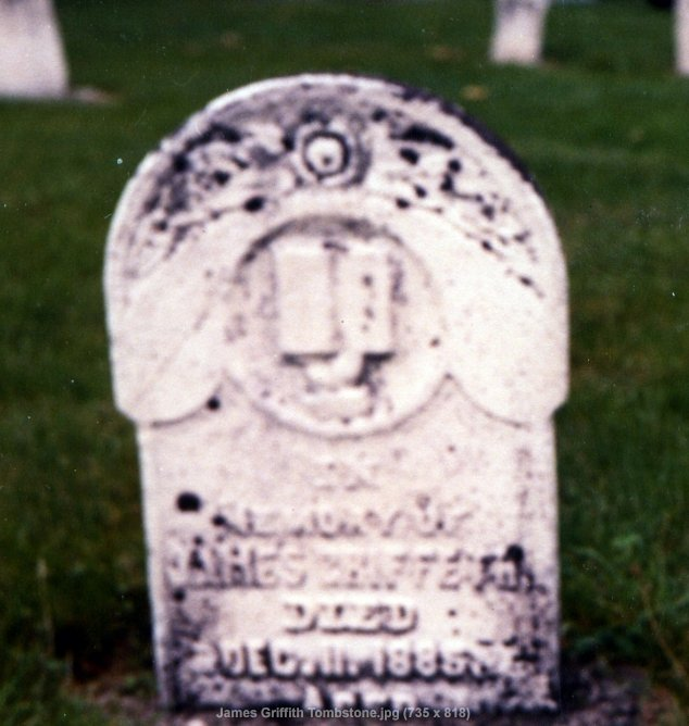 Tombstone of James Griffith