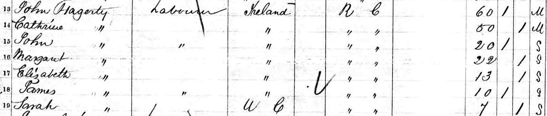 John Hagerty in Kinsgton, Ontario, Canada in 1861
