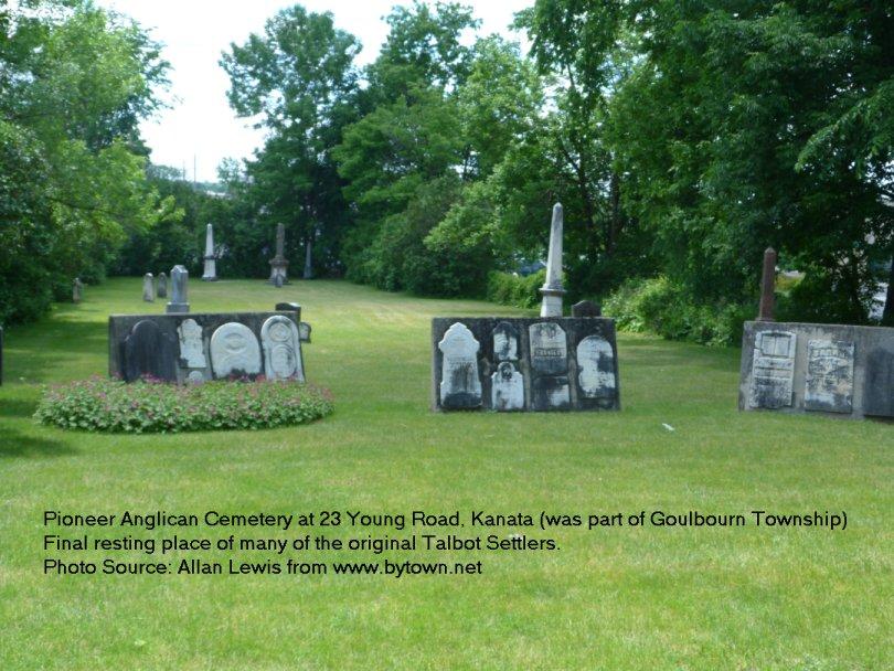 Pioneer Anglican Cemetery at Hazeldean, (Kanata), Ontario, Canada