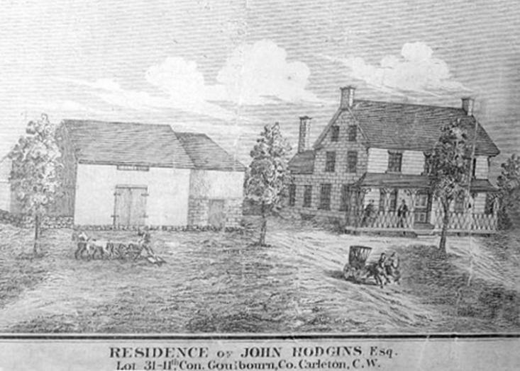 Hodgins family house at Hazeldean, Goulbourn Township, Ontario in 1879
