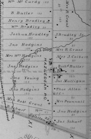 Hazeldean Map, 1879