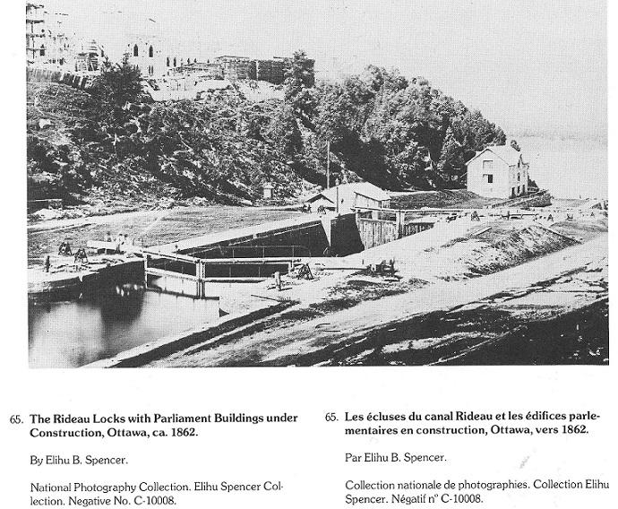 Parliament Buildings under construction, c. 1862