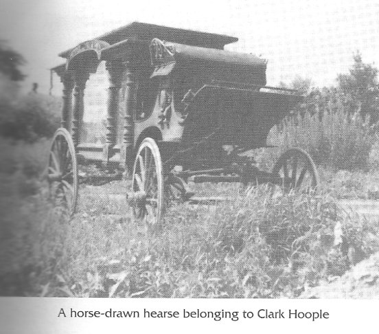 Horse-drawn hearse owned by Clark Hoople of Glengarry County, Ontario, Canada