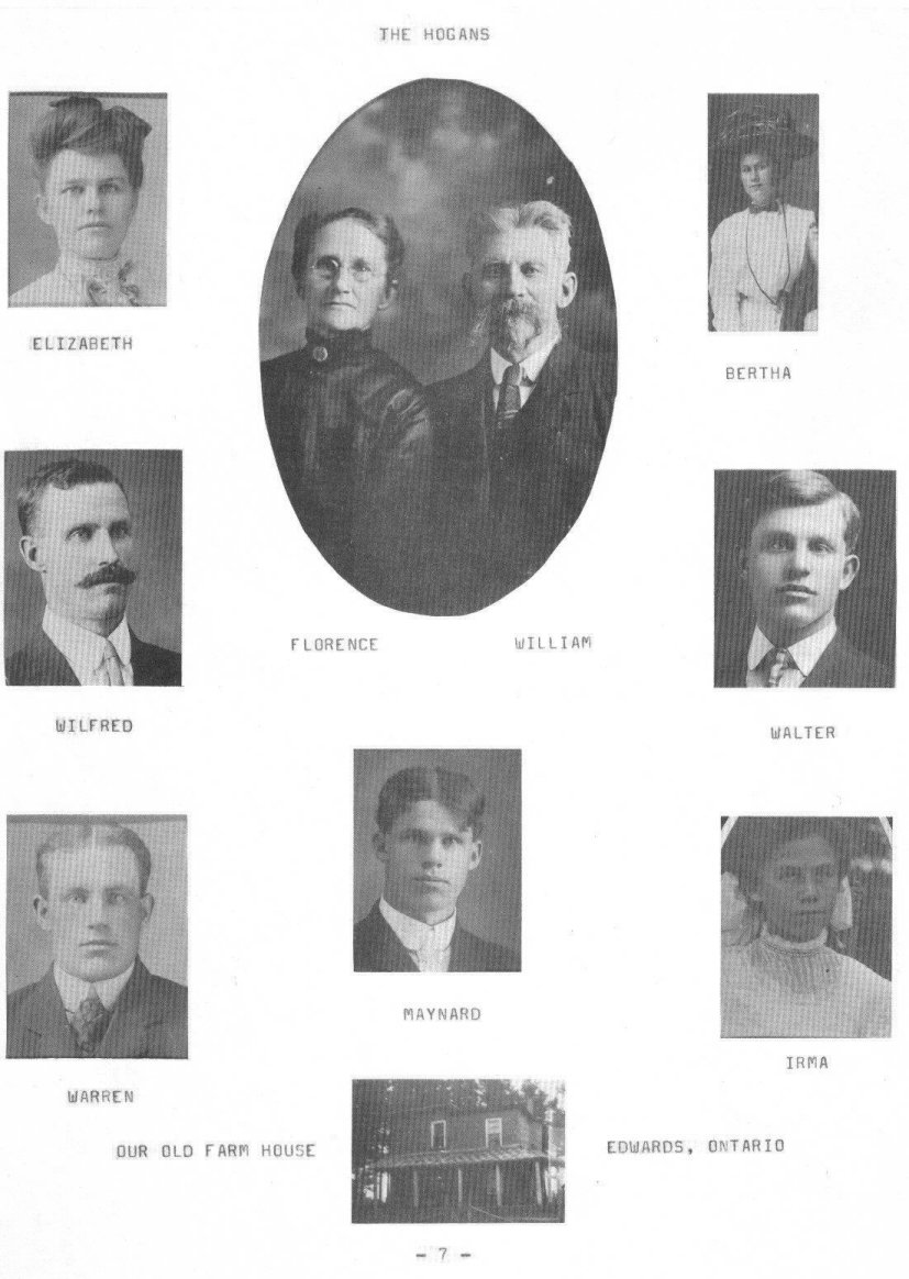 Descendants of William Hogan and Florence Carrigan