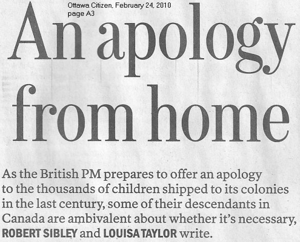 Apology to British Home Children