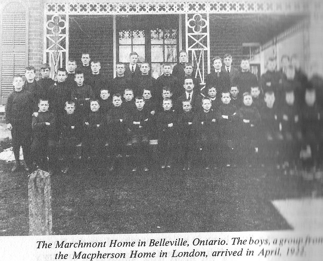 Photo of Marchmont Home for British Home Children in Belleville, Ontario