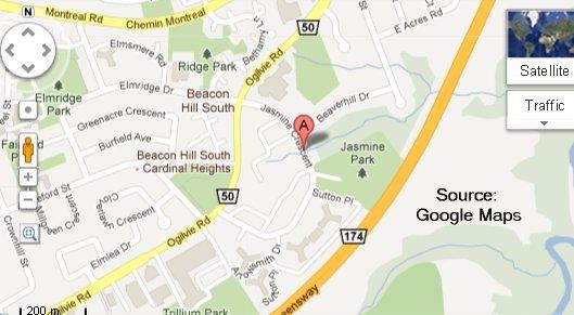 Hopkins Cemetery Map - Gloucester Township, Ottawa, Ontario, Canada