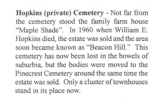 Hopkins Cemetery Newspaper Clipping - Gloucester Township, Ottawa, Ontario, Canada