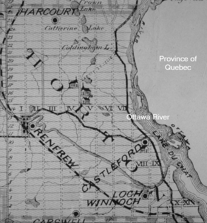 Horton Township, Renfrew County, Ontario, Canada in 1879