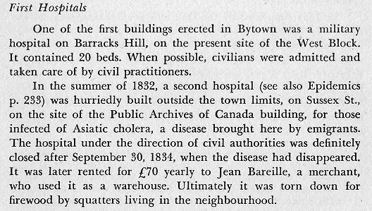 First Hospitals in Bytown