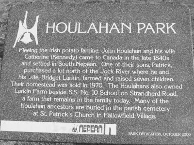 The Houlahan family, County Clare, Ireland to Ottawa, Canada