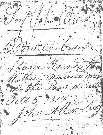 Hull, Quebec, 1813 Militia List