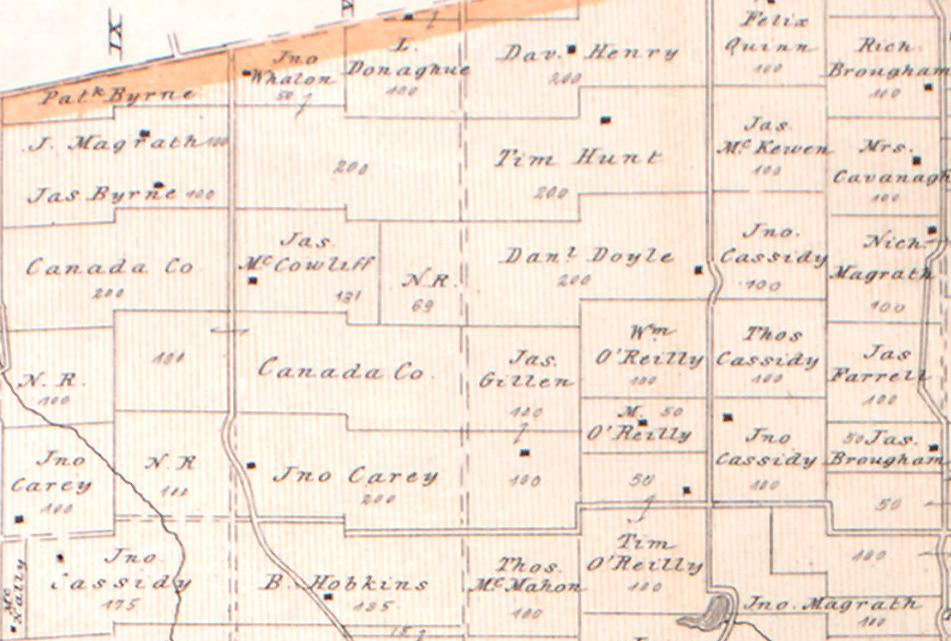 Map showing a Portion of Hungerford Township, Ontario, in 1879