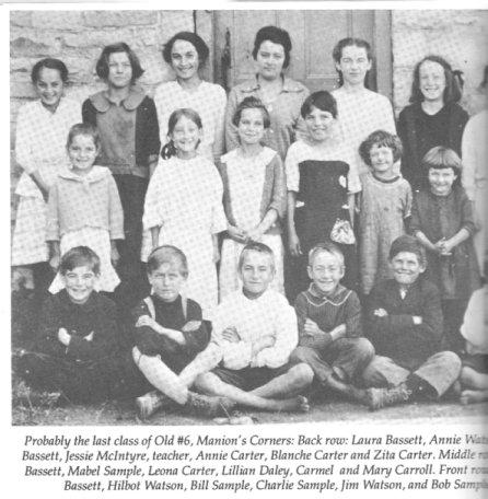 Huntley Township, Ontario, Canada, School #6,  1894