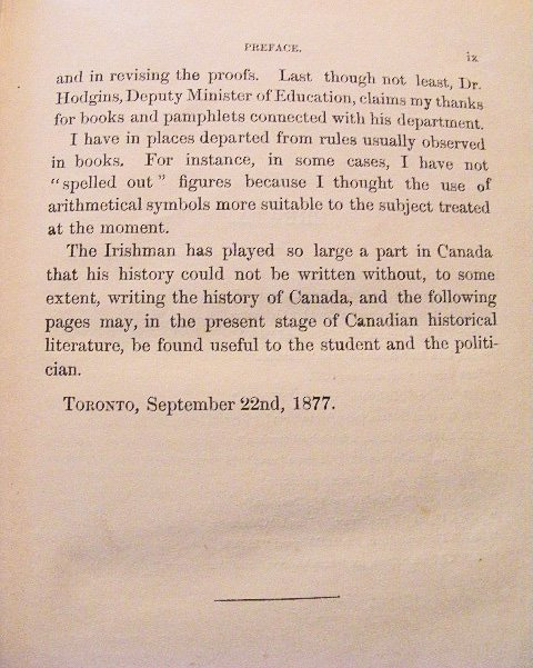 The Irishman in Canada by Nicholas Flood Davin, 1877