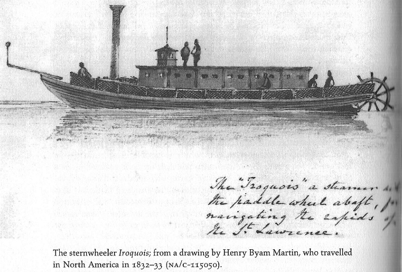 Sternwheeler Iroquois for St. Lawrence Rapids