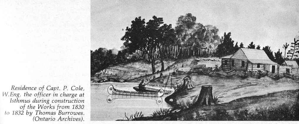 Capn. Cole's House at the Isthmus, 1830 to 1832