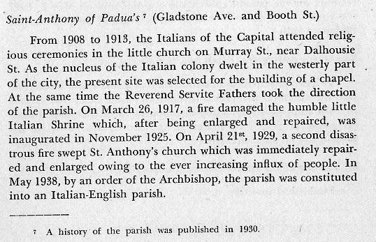 First Italian Church in Ottawa, Canada (on Murray Street)