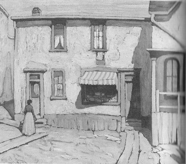 Italian Grocery Store in the Ward in 1922, by Lawren Harris