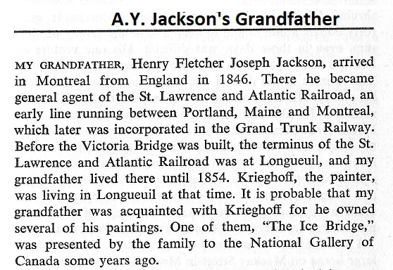 A.Y. Jackson's grandfather meets Cornelius Krieghoff at Longueuil