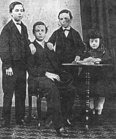 James (Jemmy) Murphy and children William, Johnny and Mary