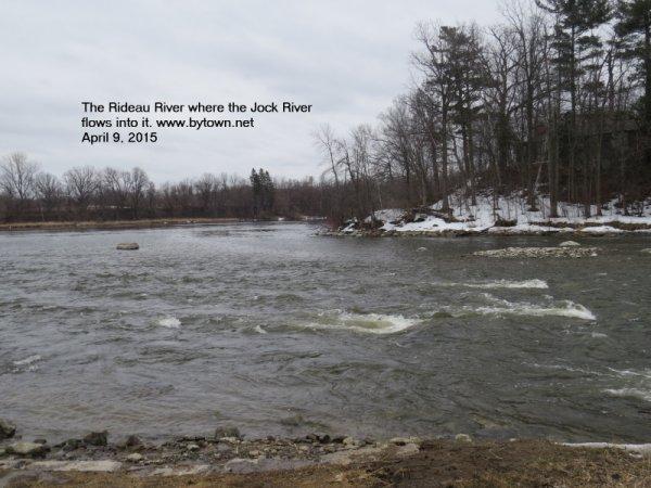 Jock River at Rideau River, Ottawa, Canada