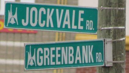 At the corner of Greenbank Road and Jockvale Road, Ottawa, Ontario, Canada