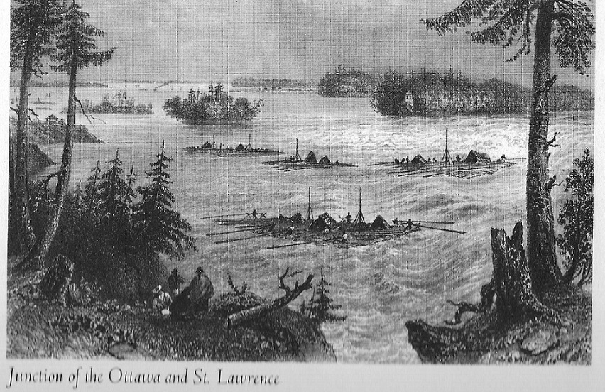 Junction of the Ottawa and St. Lawrence Rivers, c. 1840