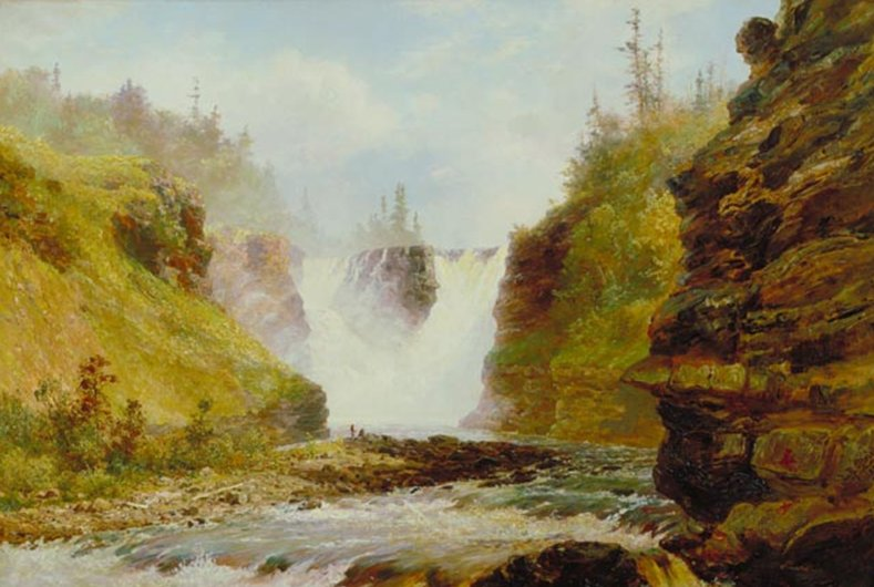 Kakabeka Falls Painting by Lucius O'Brien, 1882