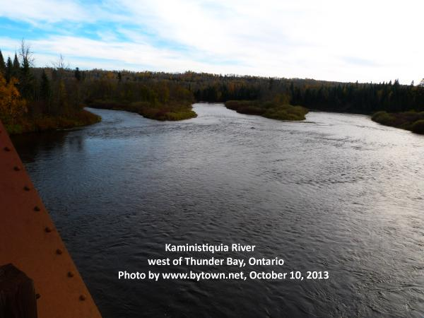 Kaministiquia River, west of Thunder Bay (was Fort William and Port Arthur), Ontario, Canada