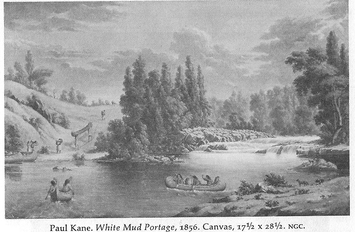 White Mud Portage, a painting by Paul Kane